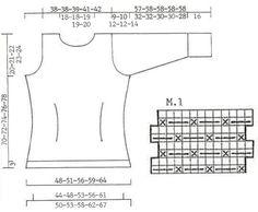 """DROPS 73-3 - DROPS Pulli in """"Angora-Tweed"""" mit grossem Kragen und Manschetten in Brombeermuster - Free pattern by DROPS Design"""