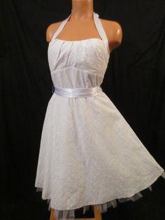 RUBY ROX white eyelet dress - $29.99 at JOHNNY BOMBSHELL #retro #halter