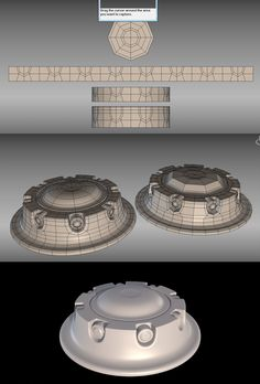 started with cylinder and then expanded the edges and layed out a strip of copies combined them added a bend modifier converted to editable poly deleted 75 percent to add in details and intrude holes added curves and bolts copied and rotated copies welded and curve over al surfaces
