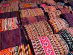 Hmong fabrics -  wish I lived near a store that sold these! I would have so much fun!