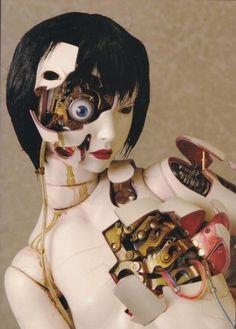 Ghost in the Shell Innocence Ball Jointed Dolls, Motoko Kusanagi, Humanoid Robot, Arte Cyberpunk, Robot Girl, Ex Machina, Arte Horror, Horror Art, Ghost In The Shell