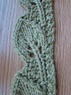free pattern leaf lace knit edge