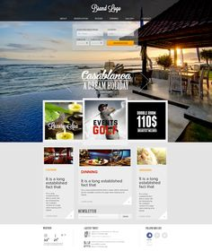 Free psd hotel template.