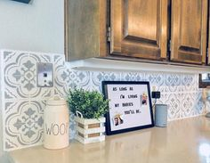 Diy Kitchen Tile Backsplash On A Budget Using Stencils From Cutting Edge
