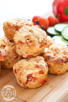 Red pepper and cheese savoury muffins (perfect packed lunch treat)