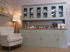 New Huge 7ft Solid Pine Welsh Dresser Kitchen Unit Shabby Chic Painted   eBay
