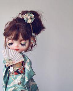 #cheriebabette #blythe #customblythe #doll #k07 #k07doll Pretty Dolls, Beautiful Dolls, My Doll House, Cute Baby Dolls, Chibi Girl, Dream Doll, Smart Doll, Art N Craft, Digital Art Girl