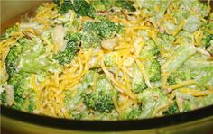 24/7 Low Carb Diner: Bacony Broccoli Salad (Use bacon bits).  1 pound broccoli, frozen or fresh 3 Tablespoons bacon bits or 3 strips crispy crumbled bacon 1 1/2 cups shredded cheddar cheese 1/4 cup slivered almonds 1/2 cup mayonnaise 2 tsp. apple cider vinegar 3 packets Truvia or alternative sweetener 1/2 tsp. onion powder 1 Tablespoon dehydrated onion 1/2 tsp. Bacon Salt