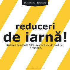 Mai sunt câteva zile în care te poți bucura de o mulțime de produse la preț redus. Te așteptăm în magazin!  Până pe 21 ianuarie 2018 te bucuri de reduceri de până la 50% la o mulțime de produse. Produsele sunt disponibile în limita stocului. Ikea, Company Logo, Logos, Ikea Co, Logo