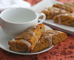 Pumpkin Scones with Cinnamon Glaze (Low Carb & Gluten Free) - All Day I Dream About Food