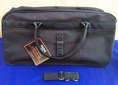 Drakkar Noir Black Duffle Travel Bag Shoulder Strap Guy Laroche Macys 22x13x8 #DrakkarNoir #TravelBag