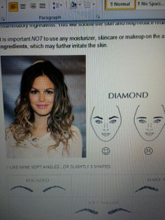 Brows for diamond shape face <3