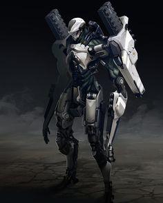 "cybernetic-psychosis: ""Humanoid Mecha by Bruno Gauthier Leblanc Bot Racer by Bruno Gauthier Leblanc SRC Spacecuit by Bruno Gauthier Leblanc "" Concept Art World, Robot Concept Art, Armor Concept, Gundam, Mecha Suit, Humanoid Robot, Futuristic Armour, Sci Fi Armor, Ex Machina"