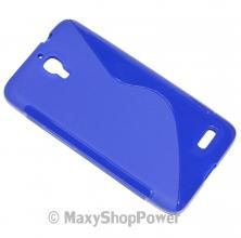 SSYL CUSTODIA IN SILICONE S-LINE BACK COVER CASE SAMSUNG GALAXY ACE 2 I8160 BLU BLUE - SU WWW.MAXYSHOPPOWER.COM