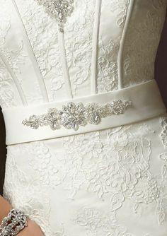 Lindos cintos para vestidos de noiva [Foto] - detalhe que eu quero