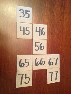 """Hundreds chart puzzles from cardboard squares.  Free math center activity or """"finished early"""" activity"""