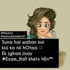 Suna v hai or dekha v hai. Cute Attitude Quotes, Girly Quotes, Cute Quotes, Best Quotes, Exam Quotes, Study Quotes, Jokes Quotes, Hindi Quotes, Funny Cartoon Memes
