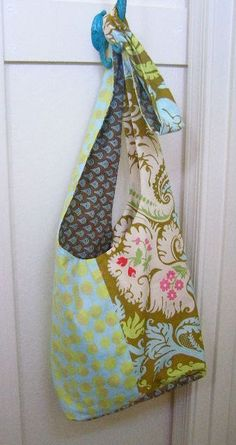 Boho Sling Bag Sewing Tutorial by The Destashification Project