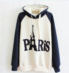 Dark blue sweatshirt...PARIS ❤