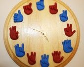 American Sign Language Clock Made to Order by MoonlightAura