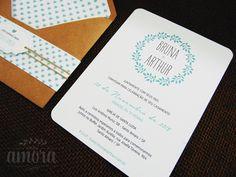 Convite de casamento rústico vintage   Estúdio Amora   Elo7