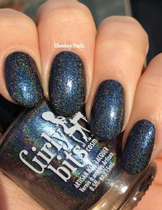 ehmkay nails: Hella Holo Customs: Girly Bits Patronus and Dementor