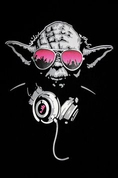 DJ Yoda Star Wars Fan Art, Dj Yoda, Stencil Street Art, Cuadros Star Wars, Anime Girl Pink, Office Artwork, Star Wars Models, Star Wars Tattoo, Star Wars Wallpaper
