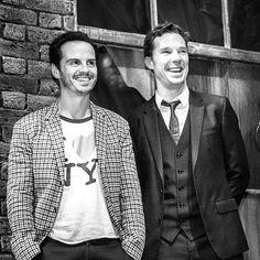 """andrewscottt: """" Andrew Scott & Benedict Cumberbatch at the Bright Young Things Gala. Sherlock Bbc, Sherlock Holmes Benedict Cumberbatch, Benedict Cumberbatch Sherlock, Jim Moriarty, Watson Sherlock, Sherlock Quotes, Martin Freeman, Mrs Hudson, Baker Street"""