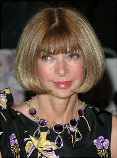 Queen Mary's Amethyst Necklace on Anna Wintour