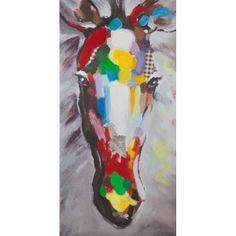 Cheval multicolore. Peinture à l'huile. http://www.deco-prive.com/tableaux/2270-tableau-cheval-multicolor.html #decoprive #decoration