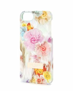 Floral printed phone case - Pale Green | Gift Accessories | Ted Baker