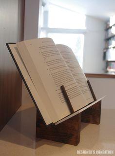 modern cookbook stand, modern bookstand, cookbook stand, book stand, minimal cookbook stand