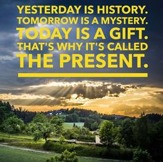 Enjoy your present! #quote #brand #branding #marketing