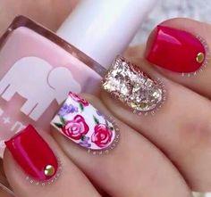 Flores y rojo