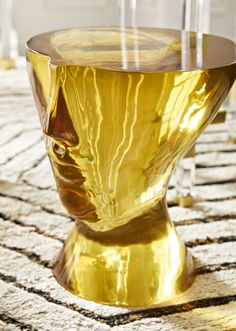 The Jonathan Adler Giuliette Table is the a wedding gift that will surely wow the happy couple. Its amber golden hue radiates personality. It is an art piece that you can also rest a drink on. Jonathan Adler, Furniture Styles, Furniture Design, Plywood Furniture, Modern Furniture, Stained Glass Designs, Futuristic Furniture, Pottery Studio, Chair Design
