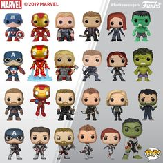 Here's a look at our Avengers Pop!s through the years! Funko Pop Marvel, Marvel Heroes, Marvel Avengers, Lego Marvel, Marvel Universe, Funko Pop Display, K Drama, Funko Pop Dolls, Funk Pop