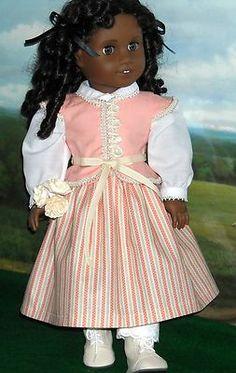 1850s Pretty in Peach Blouse, Waistcoat & Skirt by kmkdollshop via eBay  Sold 4/7/13  $104.06 e***n