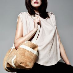 Dada Bag by Lena Hasibether for Design Made in Germany - Made from cork and naturally water-resistant | MONOQI