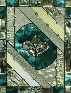 stained glass- love the mix of patterns and textures!