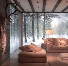 Dreamy vacation home 🏡 🦌🌲 - wohnen - Style At Home, Cozy House, My Dream Home, Home And Living, Living Room, Modern Living, Interior Architecture, Beautiful Homes, Interior Decorating