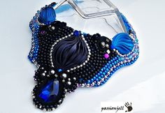 Soutache Shibori Ribbon Silk Necklace