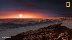 Multimedia, The Final Frontier, Space And Astronomy, National Geographic, Planets, Twitter, Earth, Mountains, Sunset
