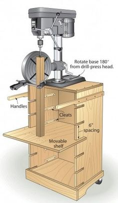 This benchtop drill press acts all grown up