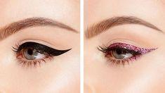 Glitter Pop Peel Off Eyeliner - Too Faced #EyelinerForBeginners Perfect Eyeliner, Best Eyeliner, Glitter Eyeliner, How To Apply Eyeliner, Winged Eyeliner, Pencil Eyeliner, Lip Pencil, Eyeliner Ideas, Glitter Face