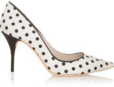 Sophia Webster Lola polka-dot leather pumps