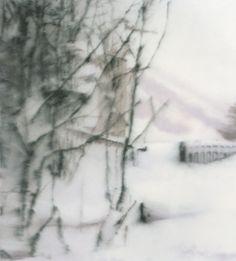 "Gerhard Richter (b. 1932) | ""Snow,"" 1999 | Oil on canvas | Museum Frieder Burda, Baden-Baden, Germany."