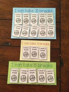 Break limit Calm Down Kit- behavioral and visual supports for students with special needs and autism. Calm Down Corner, Calm Down Area, Sensory Break Autism Classroom, Special Education Classroom, School Classroom, Classroom Decor, Baby Education, Classroom Behavior Management, Behaviour Management, Stress Management, Social Emotional Learning