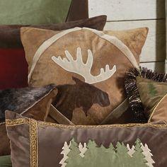 Outdoor Adventure Moose Accent Pillow