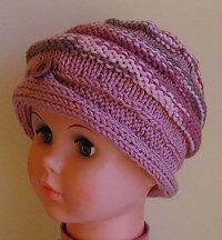 child's ridged knit cap free pattern