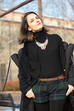 Maggie Dallospedale Happy New Year 2015 with my black long coat #kissmylook